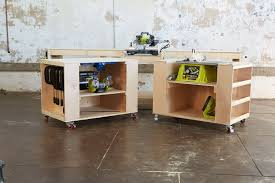 Plans For Making A Wooden Workbench by Ana White Ultimate Roll Away Workbench System For Ryobi Blogger