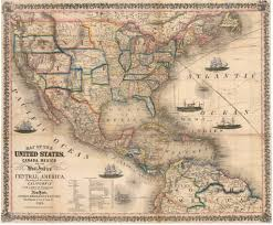 Map Of West Indies 1854 Map Of The United States Canada Mexico And The West Indies