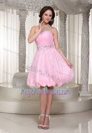 sale zipper up baby pink short prom dress for slim girls with