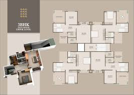 Typical Floor Plan Of A House by Monalisa Manjalpur In Vadodara 2 Bhk 3 Bhk Luxurious Flats And