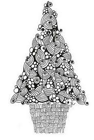 printable coloring page tree ornaments