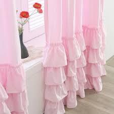 Ruffled Pink Curtains 28 Ruffled Pink Curtains White Ruffle Curtain Buy Nerina