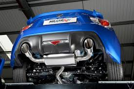 subaru dual exhaust subaru brz 2 0 litre milltek exhaust