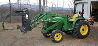 john deere 4700 w 460 loader wr long grapple woods stump grinder