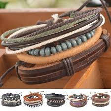 leather bracelet cuff women images Braided adjustable leather bracelet 21jewelrystore jpg