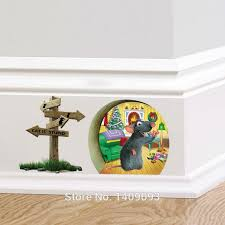 Wall Stickers For Kids Rooms by Cartoon 3d Wall Sticker Animal For Kids Room 3d Mouse Hole Wall
