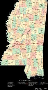 Map Of Ms Online Map Of Mississippi