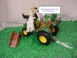 deere cake toppers green outdoor die cast farm tractor county lover rustic