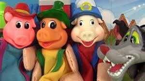 les trois petits cochons et le loup marionnettes 3 little pigs