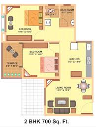 2 Bhk House Plan Luxury Idea 5 700 Sq Ft House Plan 2 Bedroom House Plan And