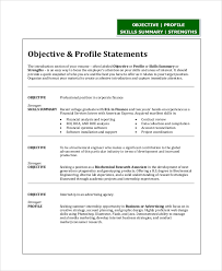 Sample Resume Recent College Graduate by Sample Resume Objective Statement 8 Examples In Pdf