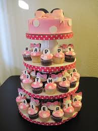minnie mouse cupcake tower u2014 children u0027s birthday cakes food