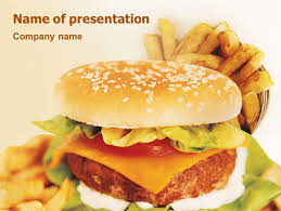 Fast Food Powerpoint Template Backgrounds 01741 Poweredtemplate Com Fast Food Ppt