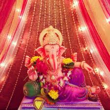 Indian Decorations For Home Ganpati Idol Decoration Indian Customs Pinterest Idol