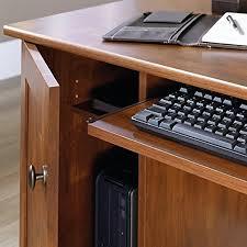 Furniture Of America Computer Desk Canyon Brown Amazon Com Sauder Computer Desk Brushed Maple Finish Kitchen