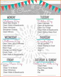 printable house cleaning schedule checklists officeing schedule interior design weekly checklist