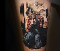 tattoo of tyler durden from fight club by benjamin llaukis no 264