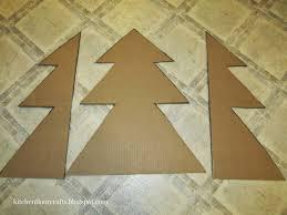 kitchen floor crafts cardboard christmas tree