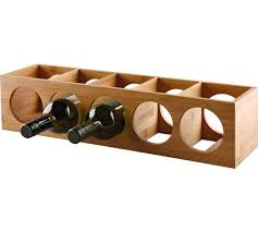 buy home set of 2 x 5 bottle bamboo wine racks at argos co uk