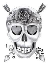 skull day of the dead stock illustration illustration of