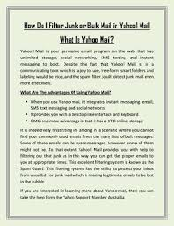yahoo email junk mail how do i filter junk or bulk mail in yahoo by emily watson issuu