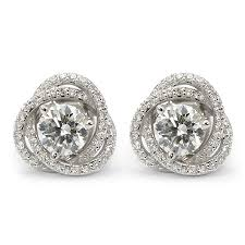 earring jackets for studs diamond stud earring jackets spiral pave wixon jewelers