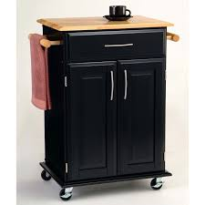 kitchen wood countertop and towel rack with single storage