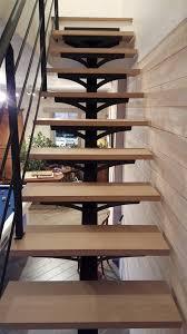 escalier design bois metal escalier limon central métal sur mesure artisan orleans