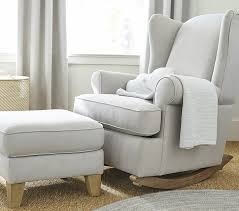 wingback convertible rocker u0026 ottoman pottery barn kids