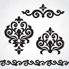 vector set with classical ornament in style ornate