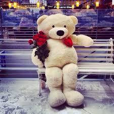big teddy valentines day m a r i a n a bouquet of roses big teddy big