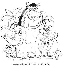 preschool jungle coloring pages coloring pages safari coloring pages animal jungle wildlife safari