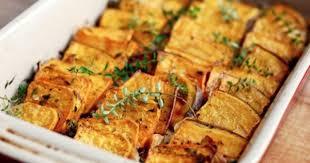 an easy make ahead thanksgiving side domino roast sweet potatoes