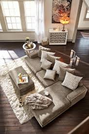Lounge Room Furniture Right On Beat The Platinum Finished Tempo Sectional Living Room