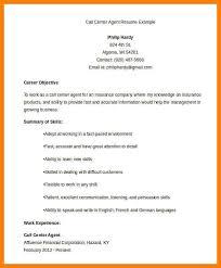 Call Center Agent Resume Sample 7 Call Center Resumes Letter Setup