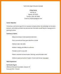 Resume Of Call Center Agent 7 Call Center Resumes Letter Setup