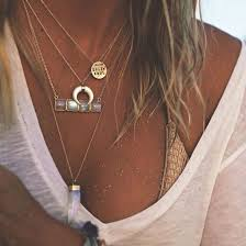 boho layered necklace images Jewels necklace jewelry boho boho chic boho jewelry bohemian jpg