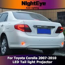 2010 toyota corolla tail light bulb nighteye toyota corolla tail lights 2007 2010 corolla led tail light