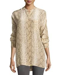 snake print blouse lyst equipment melodie snake print silk blouse