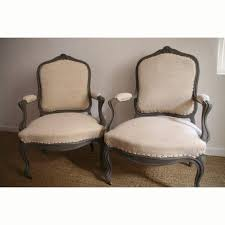 French Style Armchair French Antique Pair Of Armchair Louis Xv Style Old Grey Paint