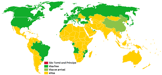 map of sao tome visa policy of são tomé and príncipe