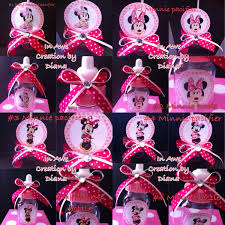 12 minnie mouse baby shower bottle and pacifier minnie baby