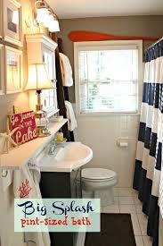 red white and blue bathroom decor