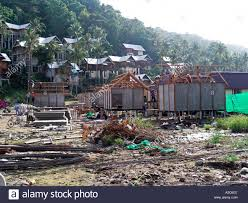 rebuilding and reconstruction of bungalows near ao lo dalam phi