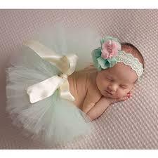 infant photo props newborn baby girl flower headband tutu skirt costume photography