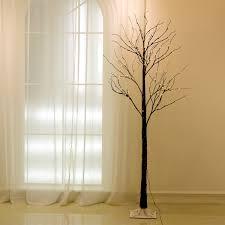 72led 1 5m 5ft black twig snowy tree light indoor outdoor