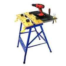 stanley folding work table folding work bench with vise and tool tray