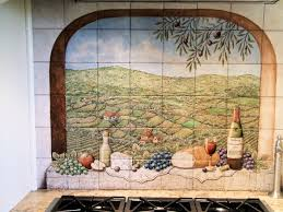 tile murals for kitchen backsplash portuguese vista solberg vineyards decorative kitchen backsplash