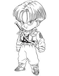 dragon ball trunks coloring u0026 coloring pages