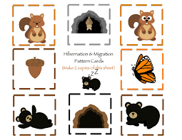 hibernation u0026 migration printable preschool printables